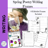 Spring Poetry Writing Frames for 1st and 2nd Grade