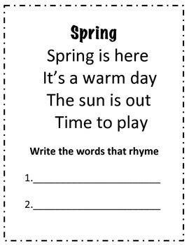 Spring Poetry Journal, Activities, & Anchor Chart Posters