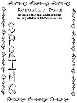 Spring Poetry Packet