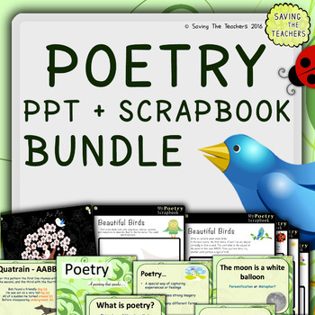 Spring Poetry Scrapbook and PowerPoint Bundle