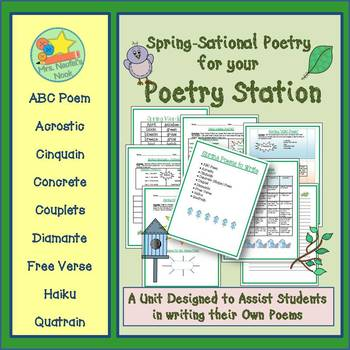 Poetry Writing - Spring Acrostic, Cinquain, Couplets, Diamante, Haiku and More