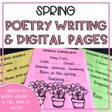 Spring Poetry Writing Pages Print or Google Classroom Dist