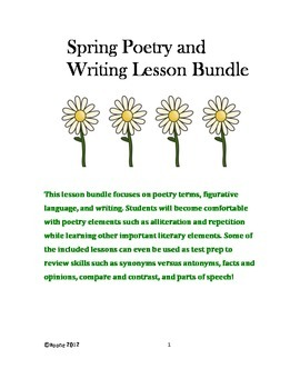 Spring Poetry and Writing Lesson Bundle