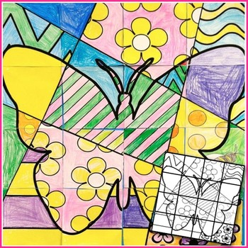 Great Spring Activity - Classroom Collaboration Butterfly Poster