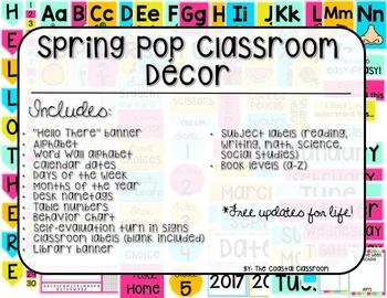 Spring Pop Classroom Decor Pack