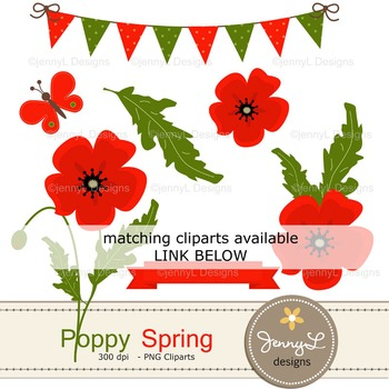 Spring Poppy Digital Paper