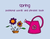 Spring Positional Words Book