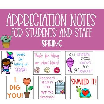 Spring Positive Appreciation Notes