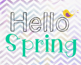 Spring Poster, Class Decor, Holiday Sign, Bulletin Board