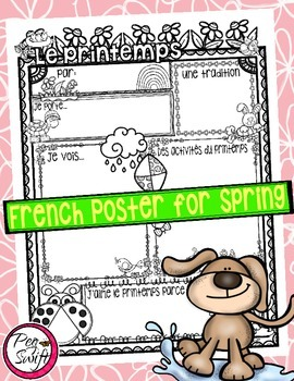 Spring Poster ~ French ~ Le printemps