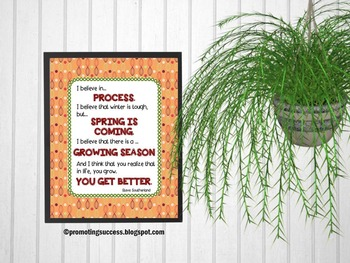 Spring Poster, Inspirational Quote, Printable Classroom Decor 8x10 16x20