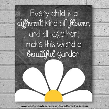 Every Child Is Different Quote Poster {Special Education Autism ESL}