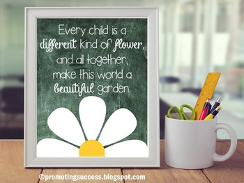 Celebrate Differences, Back to School Rule, Motivational Poster