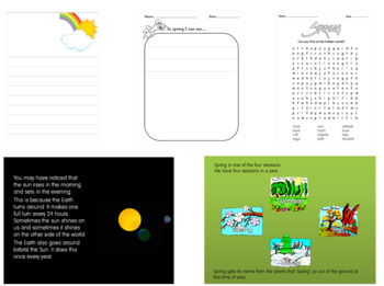 Spring Powerpoint and Spring activities pack