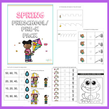 Spring Math and Literacy Pre-K Pack