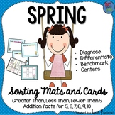Spring Math Sorts - Subitizing and Math Facts - Perfect for Benchmark Testing
