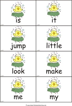 Spring Pre-Primer Dolch Sight Words eBook