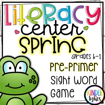Spring Pre-Primer Sight Word Puzzles