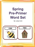 Spring Pre-Primer Word Cards