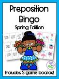 Spring Preposition Bingo