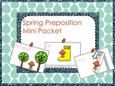 Spring Preposition Flash Cards