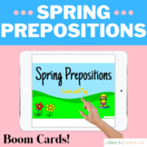 Spring Prepositions Boom Cards - Speech Tele-Therapy / Dis