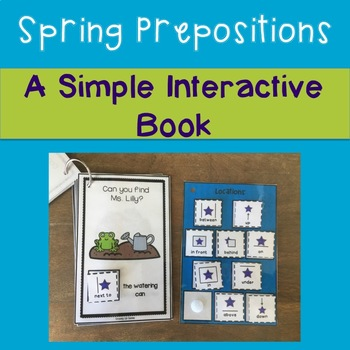 Spring Prepositions Interactive Book
