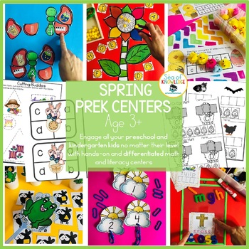 Spring Preschool Kindergarten Basic Skills Activity Pack