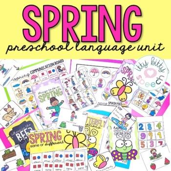 Spring Preschool Language Unit