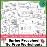 Nature-Themed Preschool Worksheets- Math, Literacy, and Vi