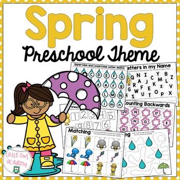 Spring Preschool Packet