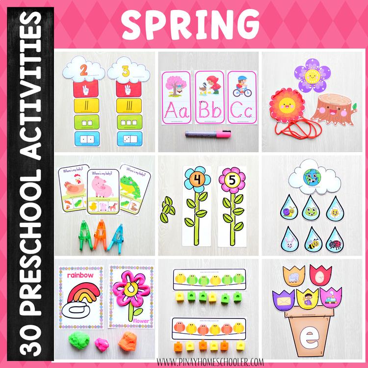 Spring Preschool Unit - Math and Literacy Centers