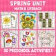 Spring Preschool/ Kindergarten Unit - Math and Literacy Centers
