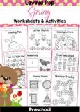 Spring Preschool Worksheets & Activities Distance Learning