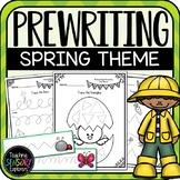 Prewriting Worksheets + Practice Strips (Spring)