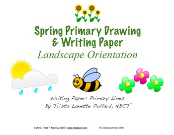 Spring Writing Paper: Primary (Landscape & Portrait)