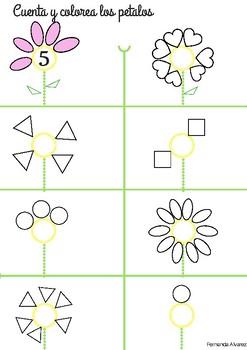 Spring/ Primavera  Cuenta y colorea