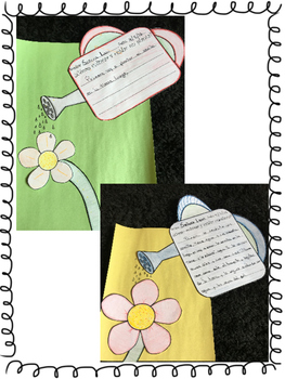 Spring / Primavera- Sequential Writing Craftivity - Spanish