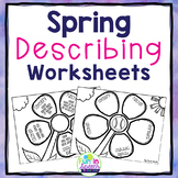 Print & Go Describing Worksheets - Spring Speech Therapy Activity