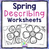 Spring Speech and Language Describing Worksheets