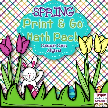 Spring Print & Go Math Pack - Common Core Aligned