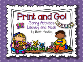 Spring Print and Go! {NO PREP Literacy and Math Activities}