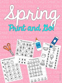 Spring Print and Go! for Pre-K and Kindergarten