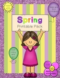 Spring Printable Pack ~ Over 50 Printables to cover tons of ELA and Math Skills!