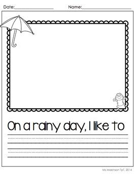 Spring Printables (Bundle) - Kindergarten Literacy and Math
