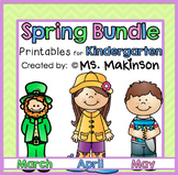Spring Printables (Bundle) - Kindergarten Literacy and Math