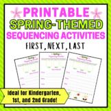 Spring Printable Sequencing Activity for 1st Grade   Kindergarten   2nd Gr