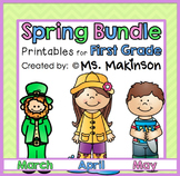 Spring Printables (BUNDLE) - First Grade Literacy and Math