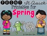 Spring Printables - {Literacy, Math}