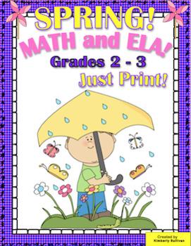 End of the year activities  Printables Math and ELA No Prep!  Grades 2 - 3